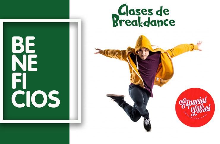 Beneficios afiliados STMBB: Clases de breakdance